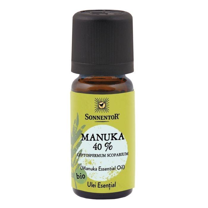Ulei Bio Esential Manuka 40% (Leptospermum Scoparium) in alcool, 10ml, Sonnentor drmax.ro