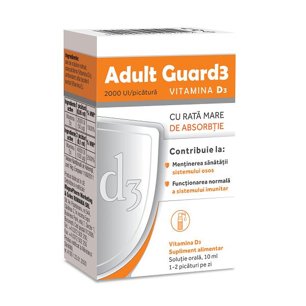 Adult Guard3 2000 UI Vitamina D3, 10ml, Evital la preț mic imagine