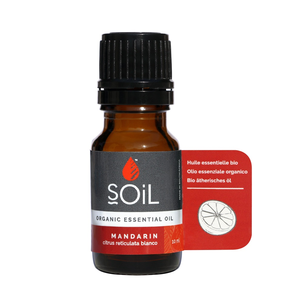 Ulei Esential Mandarina Pur 100% Organic, 10ml, Soil imagine produs 2021