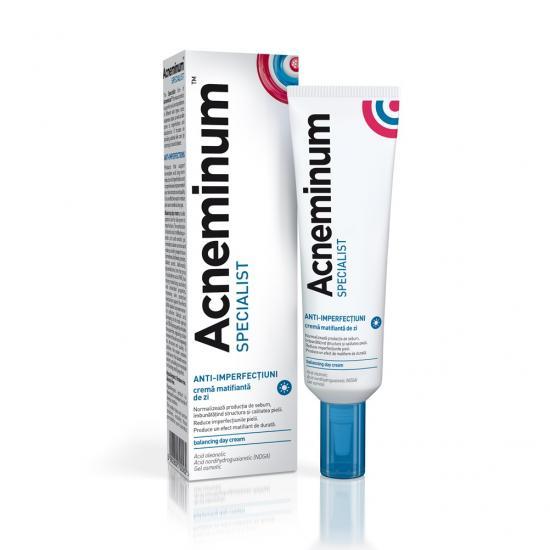 Acneminum Specialist crema matifianta de zi, 30ml, Aflofarm imagine produs 2021