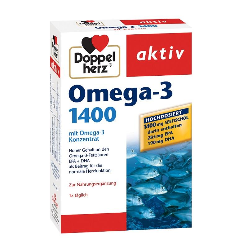 Omega-3 1400 mg, 30 capsule, Doppelherz drmax poza