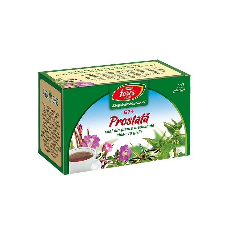 Ceai Prostata, 20 plicuri, Fares drmax.ro