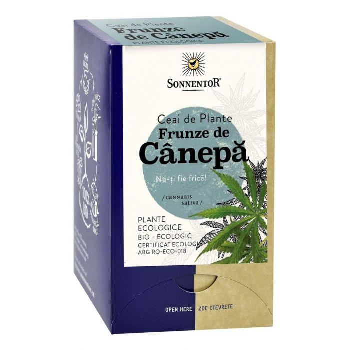 Ceai Bio Frunze de Canepa (Cannabis sativa), 18 plicuri, Sonnentor drmax.ro