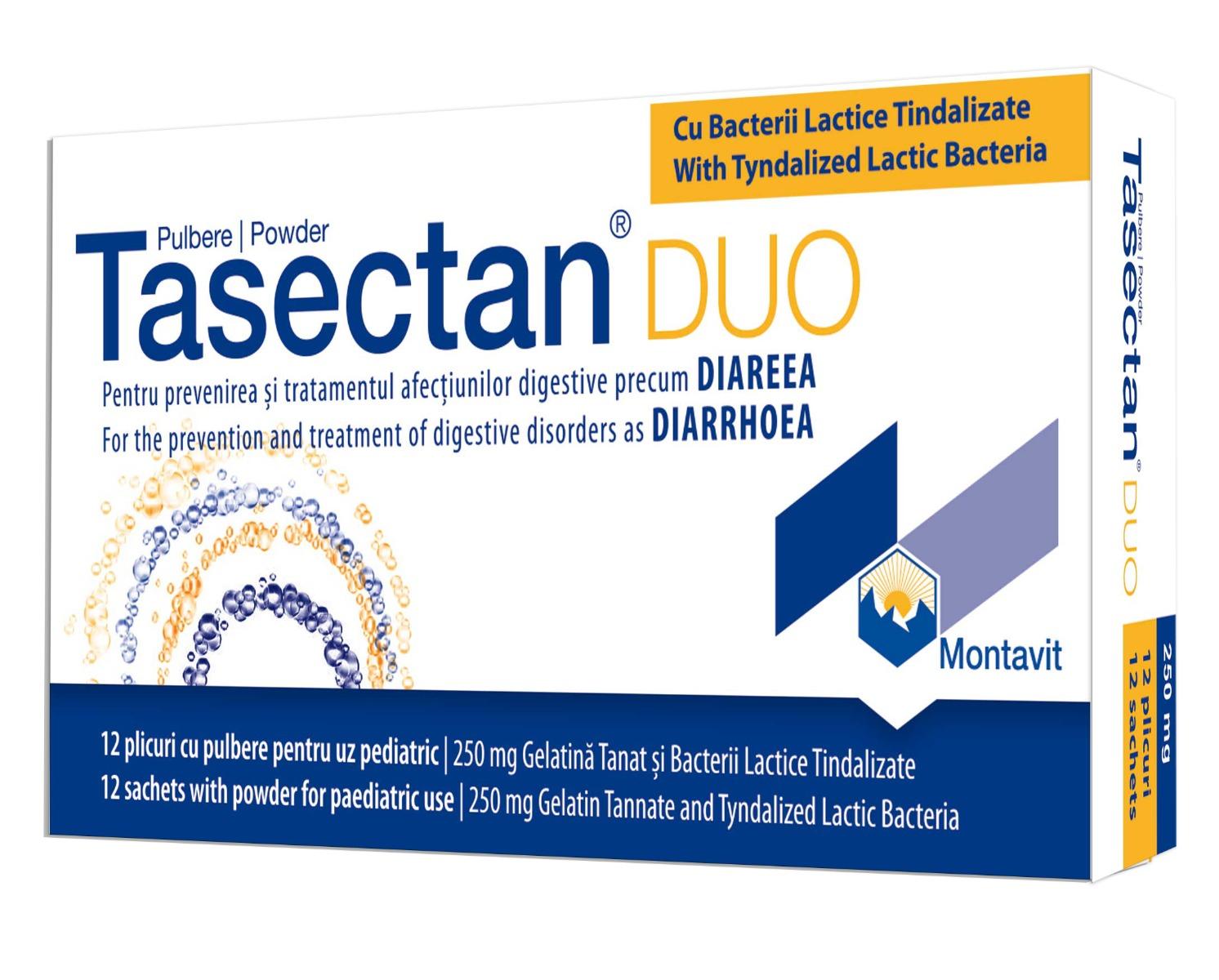 Tasectan Duo copii 250 mg, 12 plicuri, Montavit imagine produs 2021