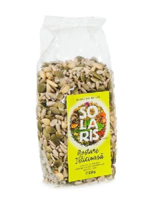 Gustare delicioasa Amestec de Seminte, 150g, Solaris la preț mic imagine