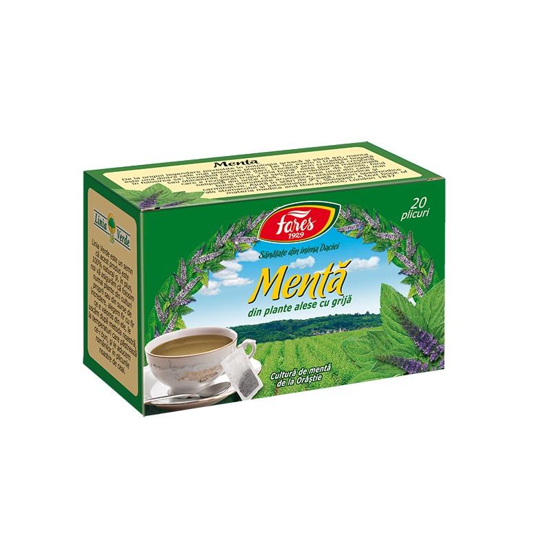 Ceai de Menta, 20 plicuri, Fares drmax.ro