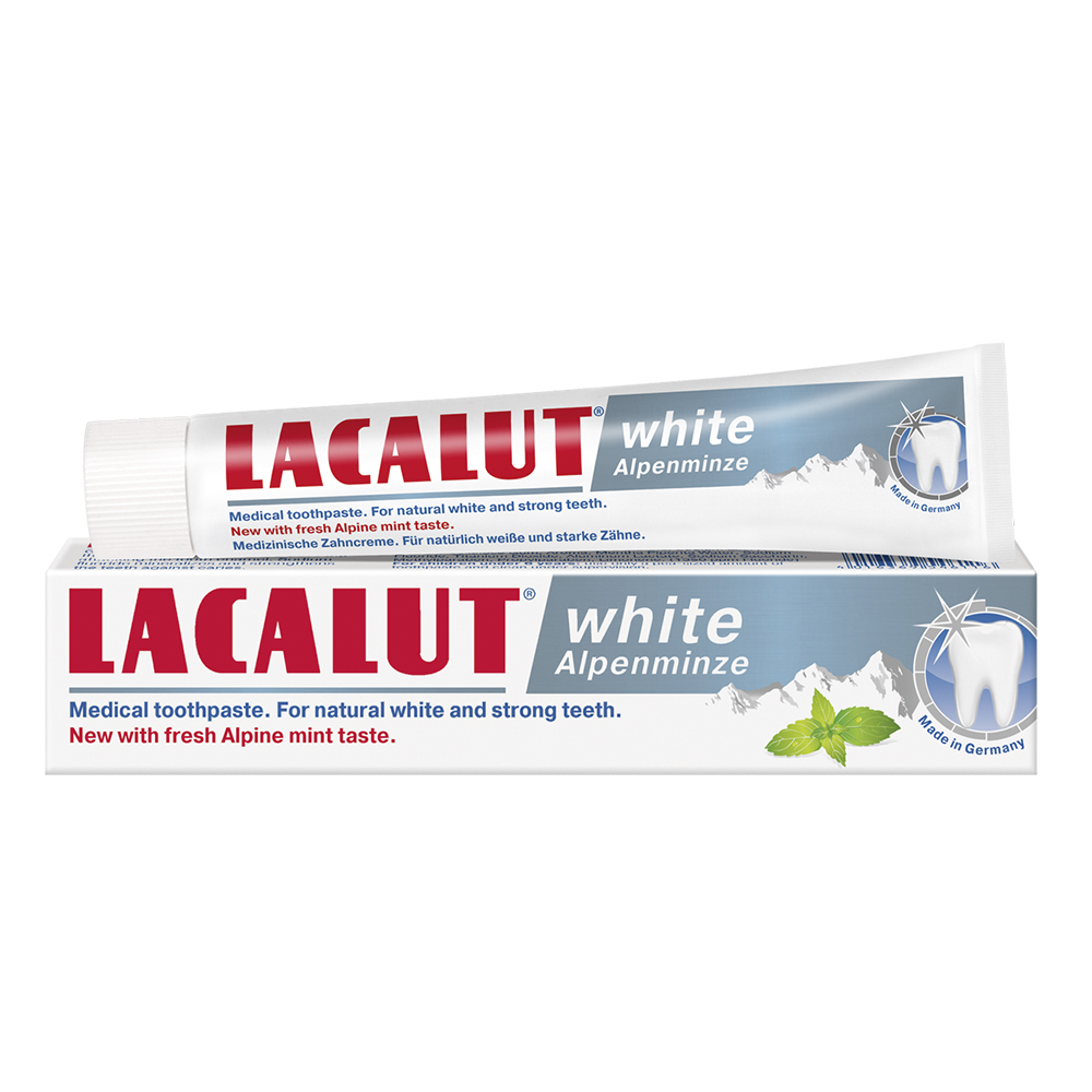 Pasta de dinti White Alpenminze, 75ml, Lacalut drmax.ro