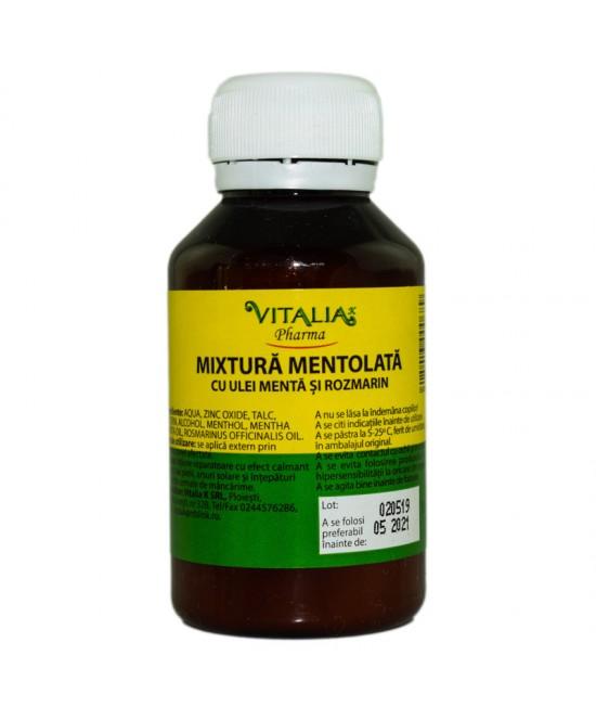 Mixtura mentolata cu ulei de menta si rozmarin, 100 g, Vitalia drmax poza