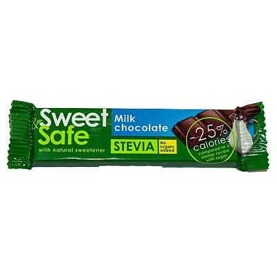 Ciocolata cu lapte si indulcitor natural de stevia, 25 g, Sly Nutritia drmax.ro