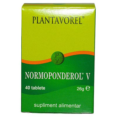 Normoponderol V, 40 tablete, Plantavorel imagine produs 2021