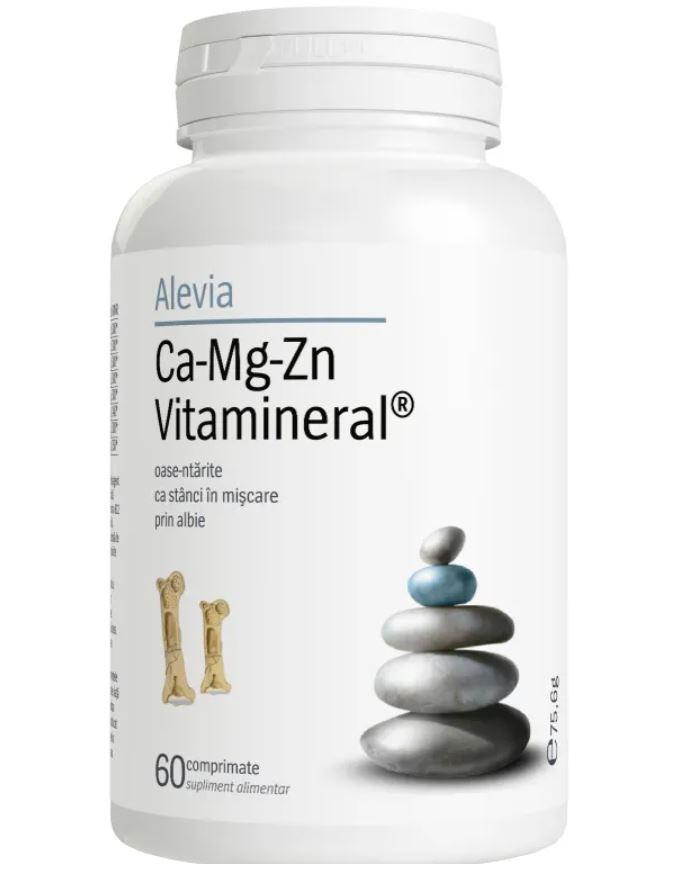 Ca-Mg-Zn Vitamineral, 60 comprimate, Alevia drmax.ro