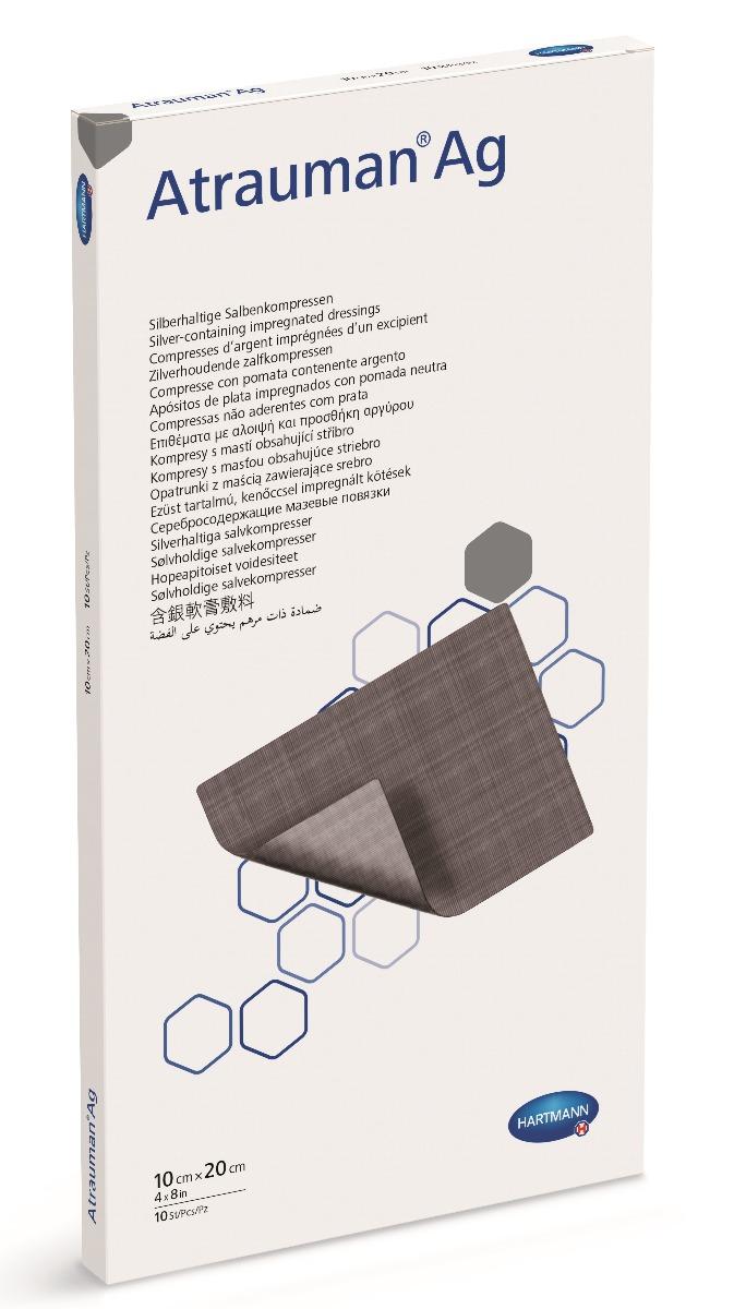 Pansament cu unguent neutru si argint, 10x20 cm, 10 bucati, Atrauman imagine produs 2021