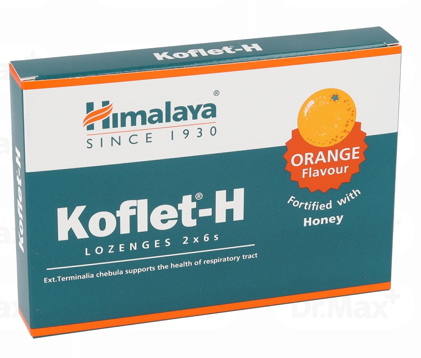 Koflet-H cu aroma de portocale, 12 pastile, Himalaya imagine produs 2021