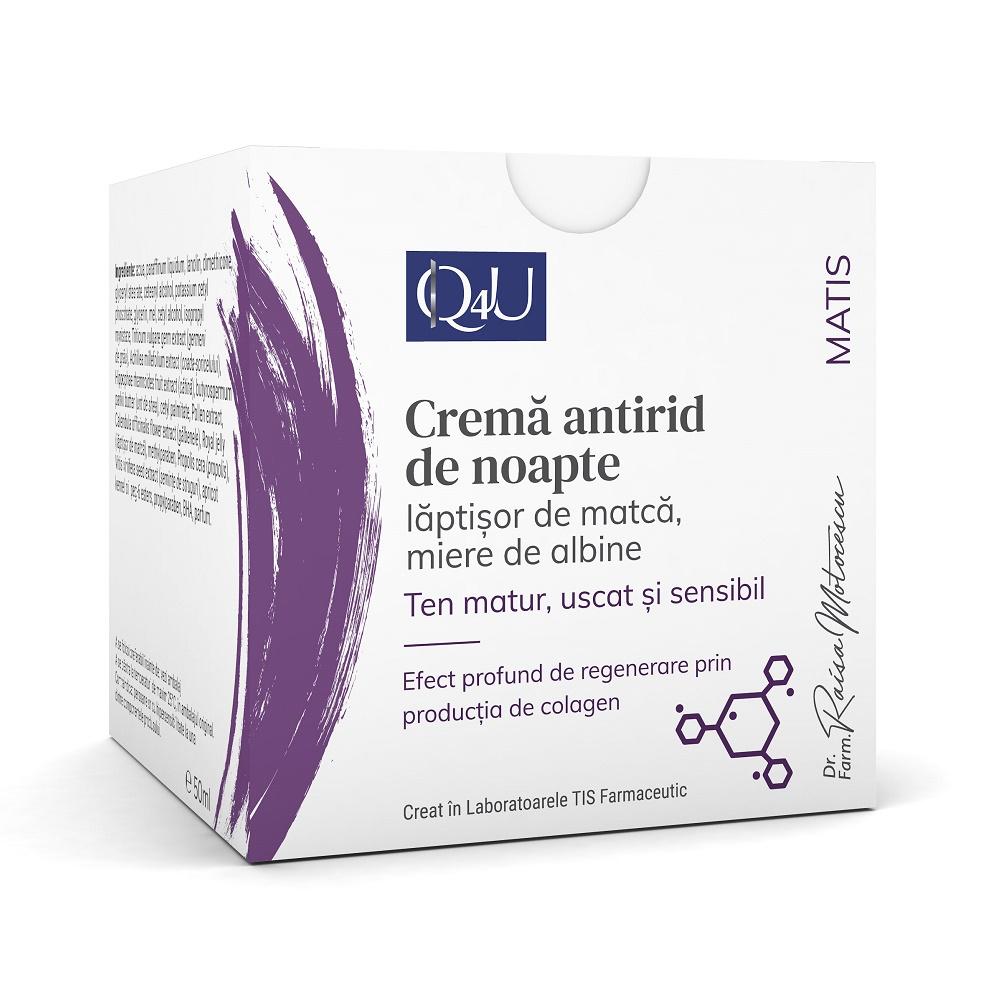 Crema antirid de noapte Matis Q4U, 50ml, Tis Farmaceutic drmax.ro