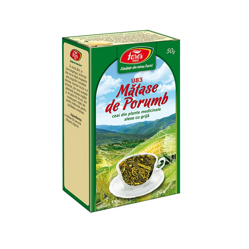 Ceai Matase de porumb, 50 g, Fares drmax.ro