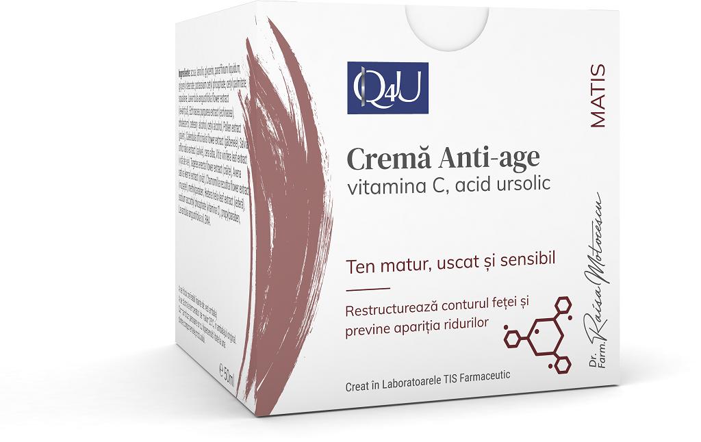 Crema anti-age Q4U, 50ml, Tis Farmaceutic drmax.ro