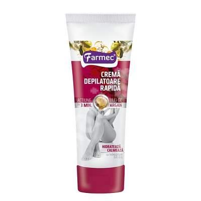 Crema depilatoare rapida cu ulei de argan, 150ml, Elmiplant drmax poza