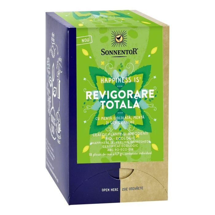 Ceai Bio Happiness Revigorare Totala, 18 plicuri, Sonnentor drmax.ro