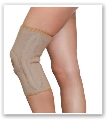 Orteza de genunchi cu atele mobile 6111, 40-45cm, L, Bej, Medtextile drmax.ro