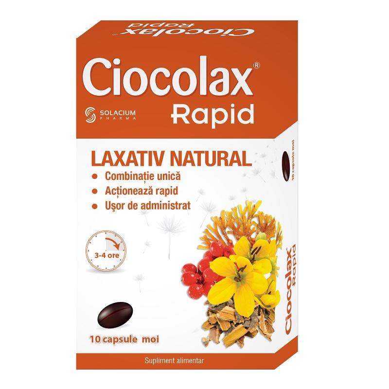 Ciocolax Rapid, 10 capsule, Solacium imagine produs 2021