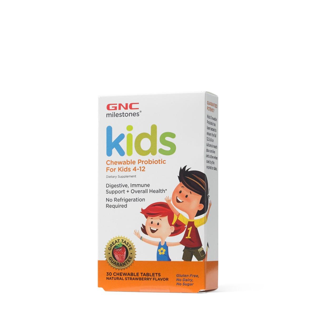 Probiotice masticabile cu aroma de capsuni pentru copii, 30 tablete masticabile, GNC imagine produs 2021