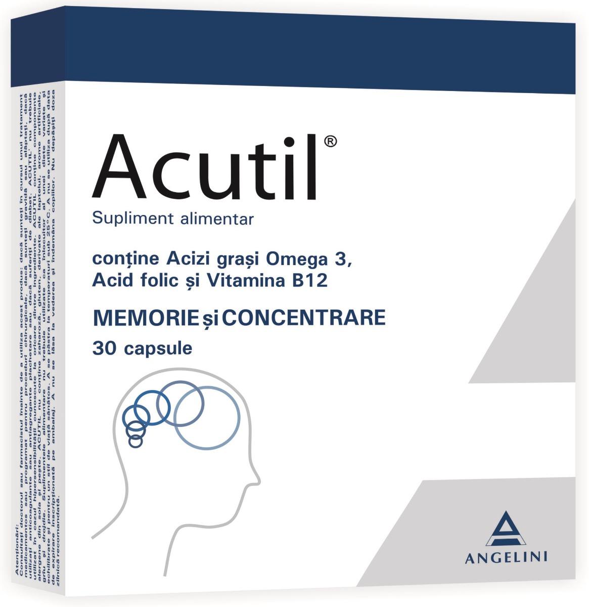 Acutil, 30 capsule, Angelini imagine produs 2021
