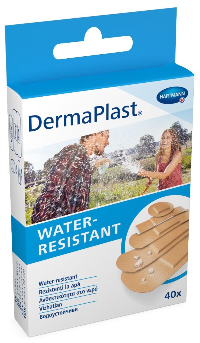 Plasturi rezistenti la apa, 40 bucati, Dermaplast