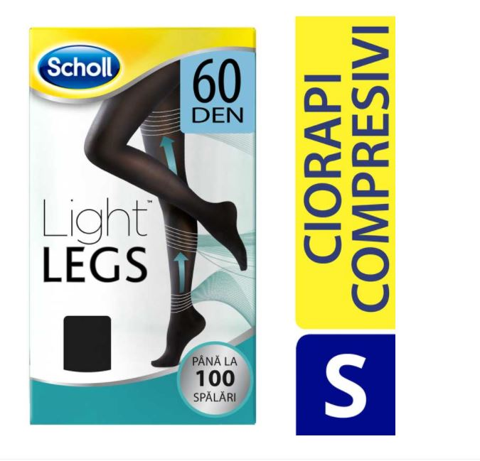 Ciorapi compresivi Light Legs 60 DEN - S, 1 bucata, Scholl imagine produs 2021