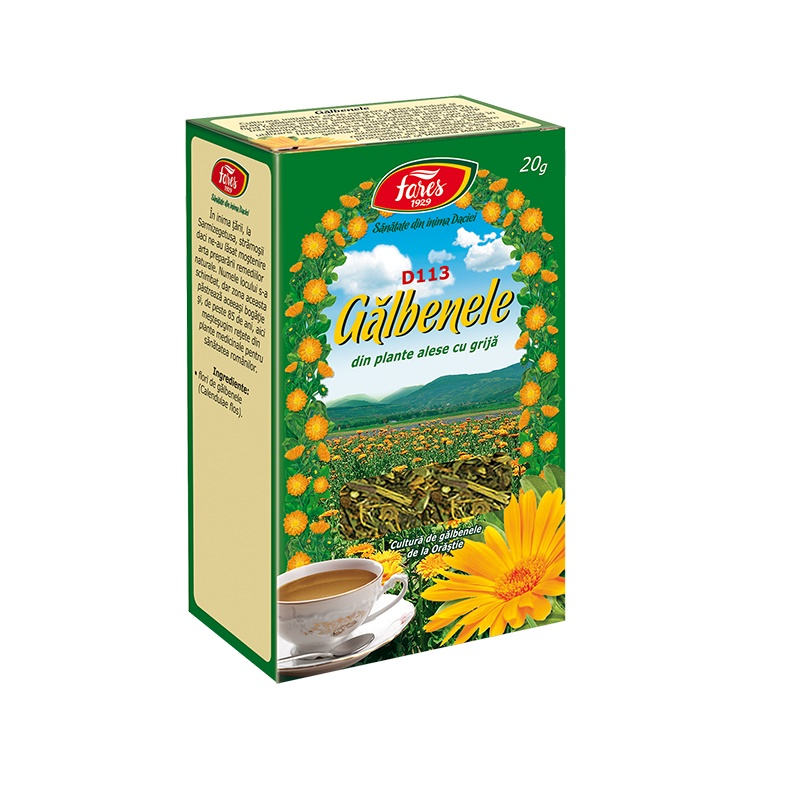 Ceai de Galbenele, 20 g, Fares drmax.ro