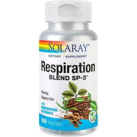 Solaray Respiration, 100 capsule, Secom imagine produs 2021