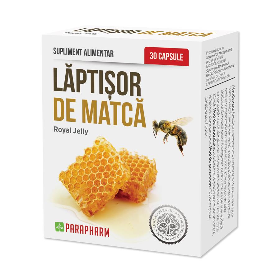 Laptisor de Matca, 30 capsule, Parapharm imagine produs 2021