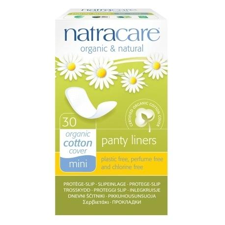 Absorbante zilnice Organice Panty Liners Mini, 30 bucati, Natracare