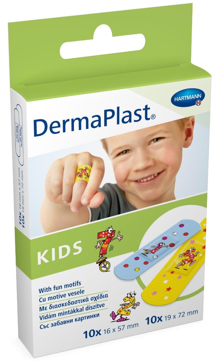 Plasturi cu desene, 20 bucati, Dermaplast Kids imagine produs 2021