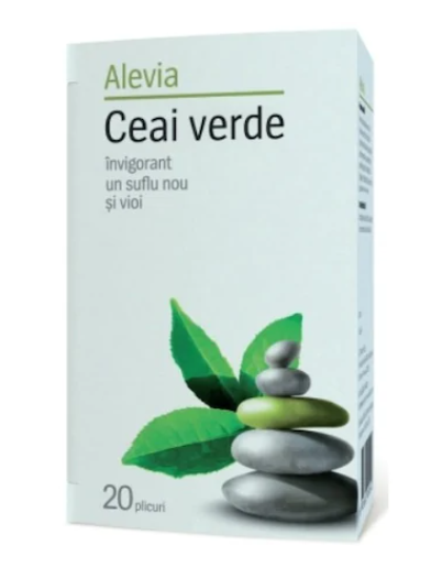 Ceai Verde, 20 plicuri, Alevia drmax.ro