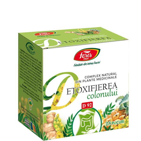Complex natural din plante medicinale Detoxifierea colonului, 28 plicuri, Fares drmax.ro