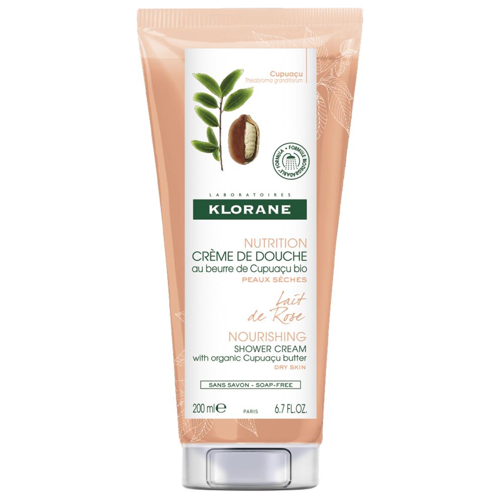 Crema de dus hranitoare cu lapte de trandafir Nutrition, 200ml, Klorane drmax.ro
