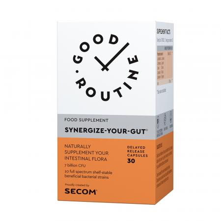 Synergize Your Gut Good Routine, 30 capsule, Secom imagine produs 2021