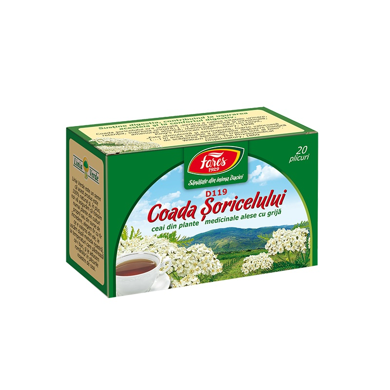 Ceai Coada Soricelului, 20 plicuri, Fares drmax.ro