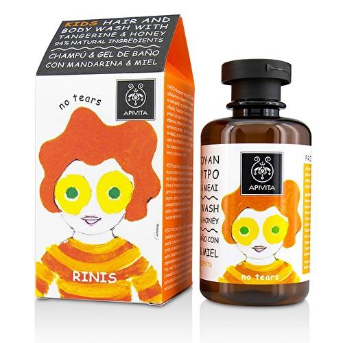 Sampon pentru par si corp, 250ml, Apivita Kids imagine produs 2021