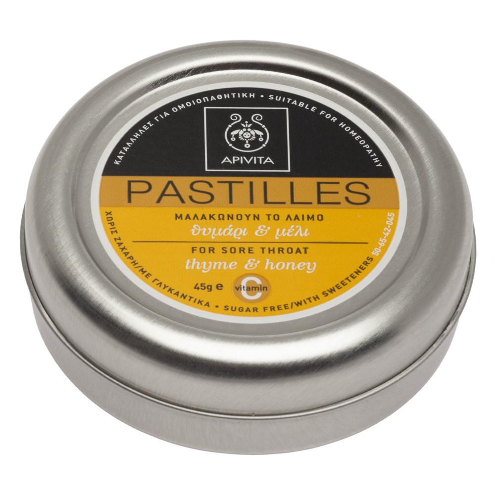 Drajeuri cu miere si cimbru, 45g, Apivita imagine produs 2021
