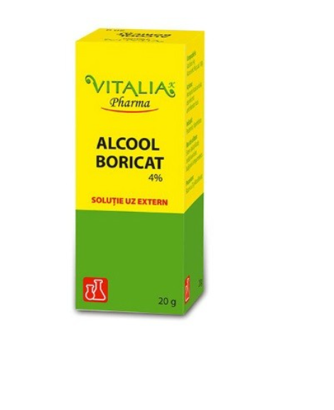 Alcool Boricat 4%, 20g, Vitalia