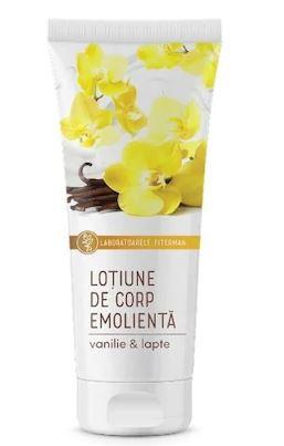 Lotiune de corp emolienta vanilie si lapte, 200ml, Fiterman drmax.ro