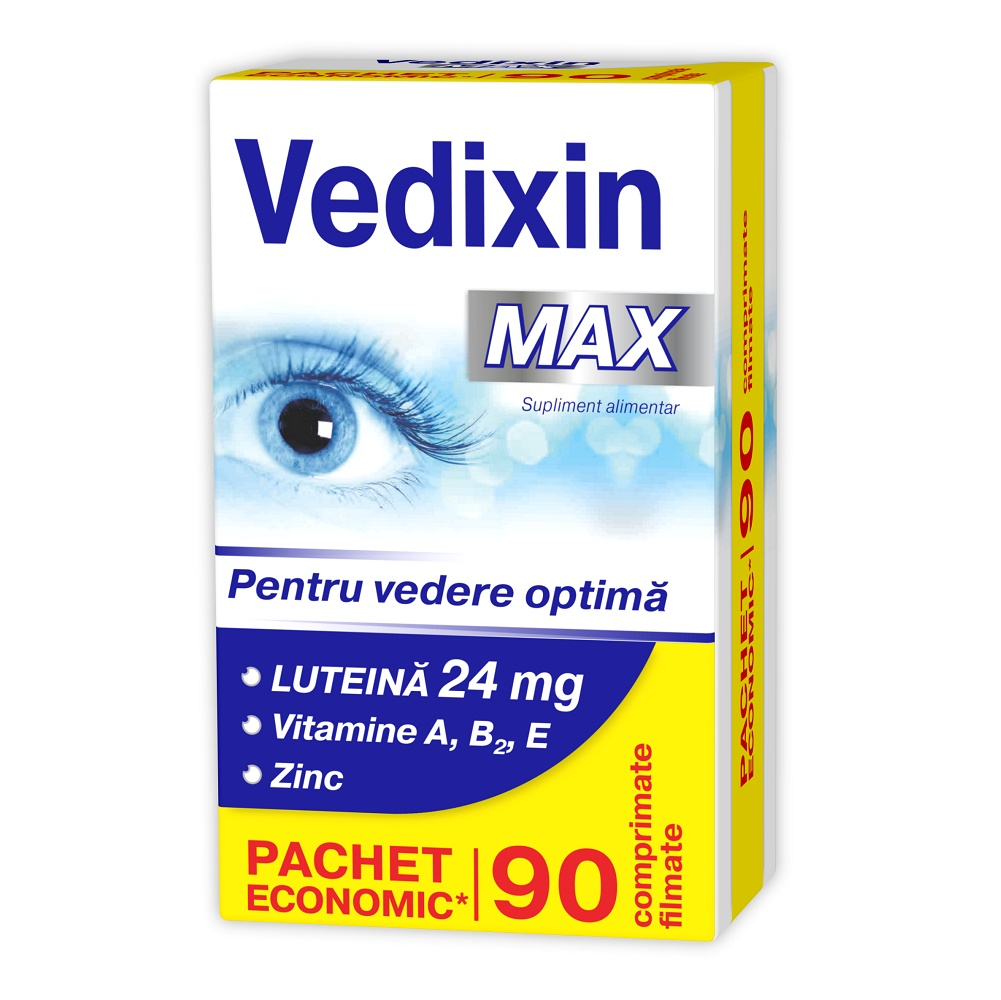 Vedixin Max pentru vedere optima, 90 comprimate, Zdrovit imagine produs 2021