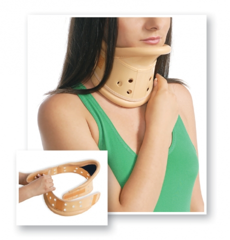 Guler cervical rigid ajustabil 1026, Marimea3, 46-53cm, Bej, Medtextile drmax.ro