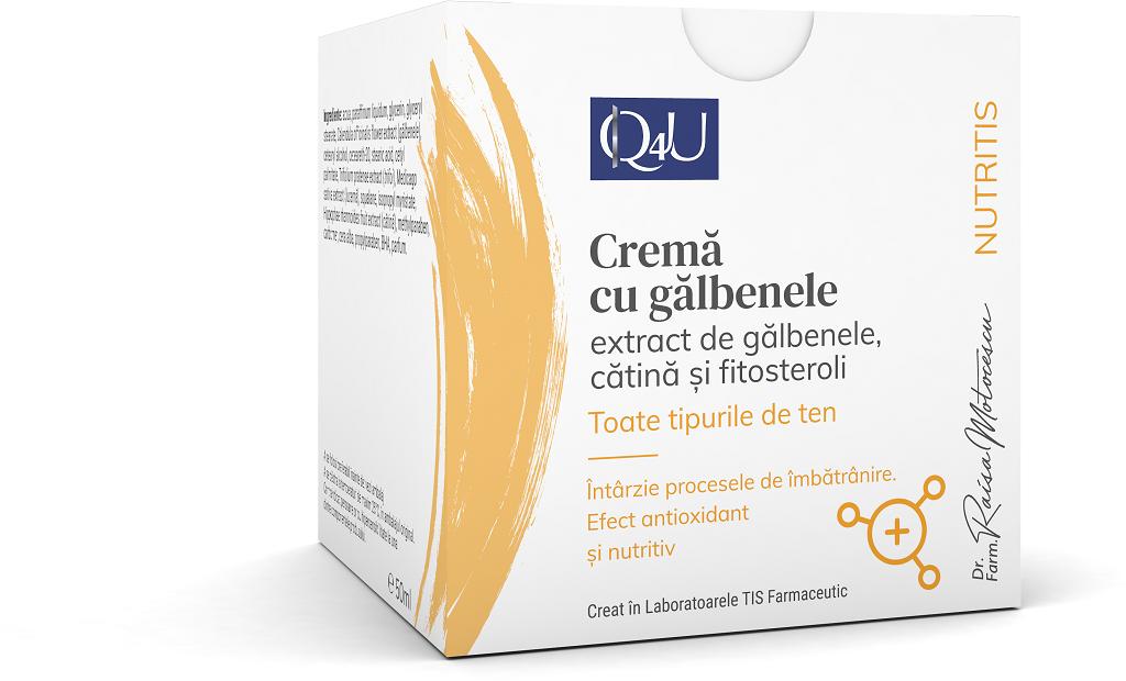Crema cu galbenele Q4U, 50ml, Tis Farmaceutic drmax.ro