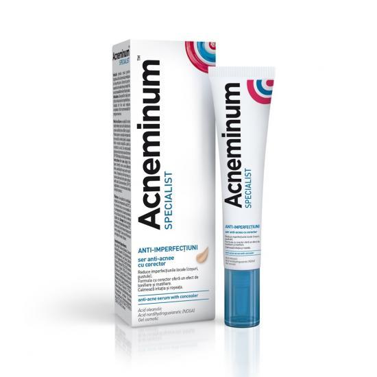 Acneminum Specialist ser anti-acnee cu corector, 10ml, Aflofarm drmax.ro