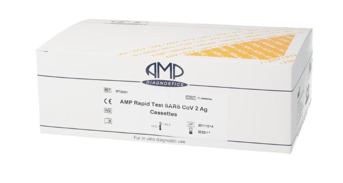 Test rapid AMP SARS-CoV-2 Ag, 10 bucati, Bio Max Pharma drmax poza