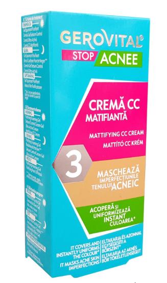 Crema CC matifianta Stop Acnee, 30ml, Gerovital