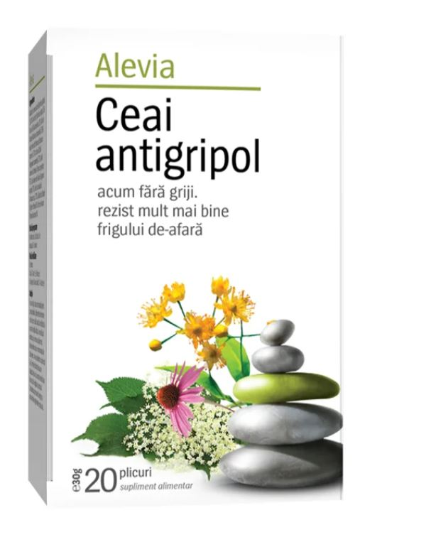 Ceai plante antigripol, 20 plicuri, Alevia drmax.ro