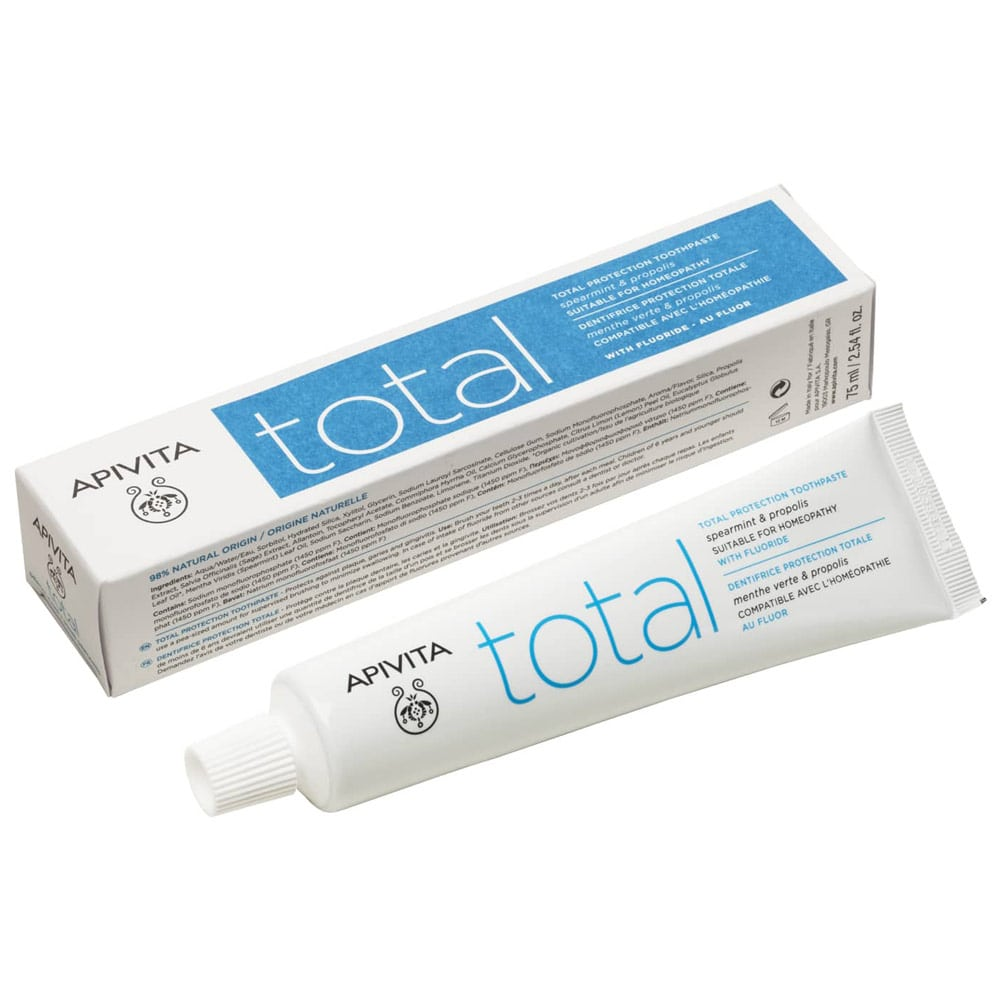 Pasta de dinti Total, 75ml, Apivita imagine produs 2021